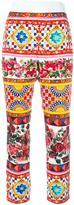 Dolce & Gabbana Mambo print cropped trousers - women - Silk/Spandex/Elastane - 40