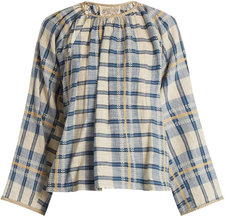 Ace&Jig Farrah gathered-neck striped cotton blouse