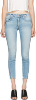 Amo Blue Fray Twist Jeans