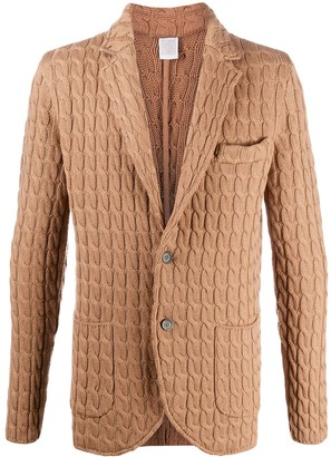 Eleventy Cable-Knit Wool Cardigan