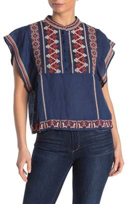 Faherty BRAND Nikolina Embroidered Linen Top