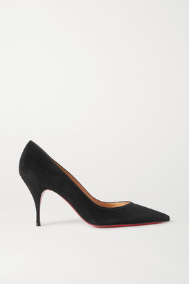 Christian Louboutin Clare 80 Suede Pumps - Black