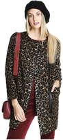 Joe Fresh Women's Leopard Print Coat, Brown (Size M)