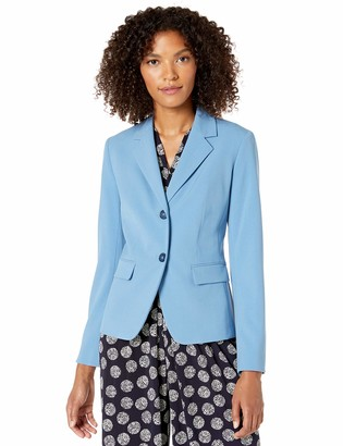 Nine West Women's Plus Size 2 Button Notch Collar Stretch Jacket