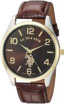 U.S. Polo Assn. Classic Men's USC50225 Watch with Faux-Leather Strap