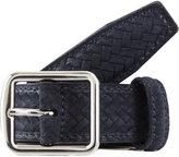 Barneys New York Suede Woven Printed Belt