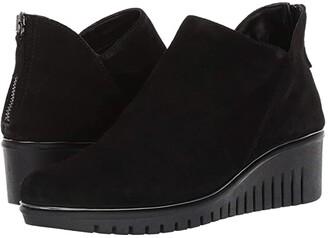 The Flexx Milky Way (Black Waterproof Suede) Women's Shoes