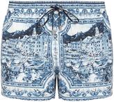 Dolce & Gabbana Sicilian Majolica-print swim shorts