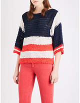 Sandro Colourblock knitted jumper