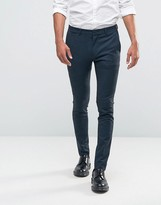 Asos Super Skinny Suit Trousers In Blue