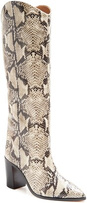 Schutz Analeah Pointed Toe Knee High Boot