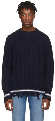 Golden Goose Navy Kunio Sweater