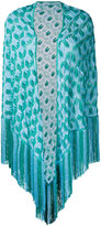 Missoni patterned tassel cape - women - Polyester/Cupro/Viscose - One Size