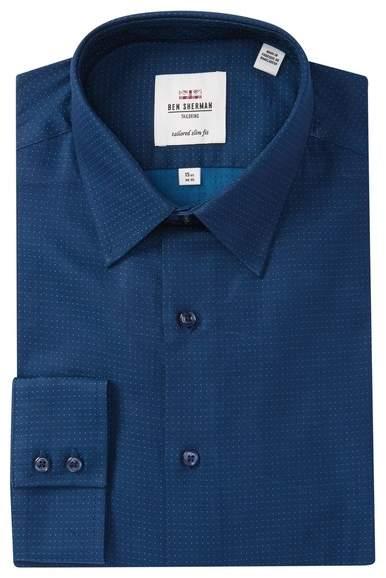 Ben Sherman Tailored Slim Fit Polka-Dot Dress Shirt