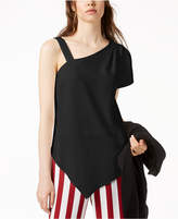 Bar III Asymmetrical One-Shoulder Top, Created for Macy's