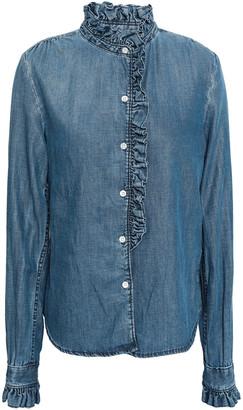 Frame Ruffle-trimmed Chambray Shirt