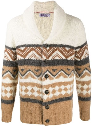 Brunello Cucinelli Shawl-Collar Cardigan