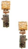 Alexis Bittar Elements Dangling Geometric Stone Drop Earrings