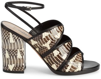 Valentino Ankle-Strap Leather Sandals