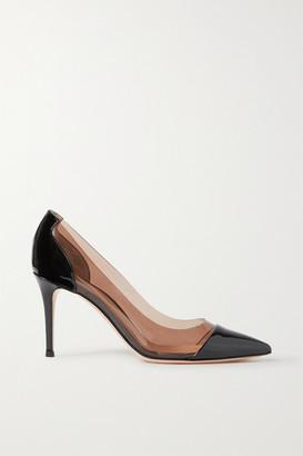 Gianvito Rossi Plexi 85 Patent-leather And Pvc Pumps - Black