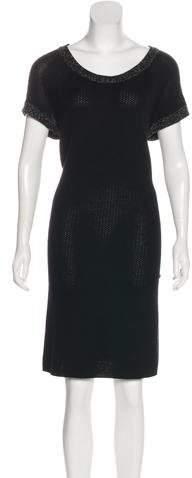 Chanel Short Sleeve Knit Dress