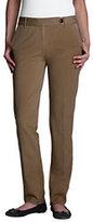 Classic Women's Pre-hemmed Original Bi-Stretch Straight Leg Pants-Raisin