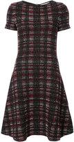 Carolina Herrera plaid knitted flared dress