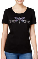 Karen Scott Petite Cotton Dragonfly Graphic Tee
