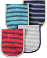 Carter's 4-Pk. Striped Cotton Burp Cloths, Baby Boys