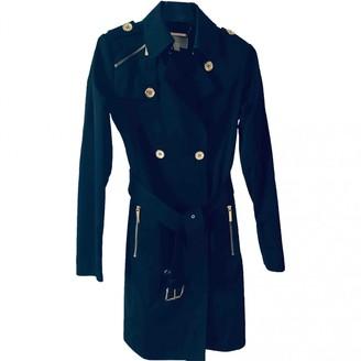 Michael Kors Navy Cotton Trench Coat for Women