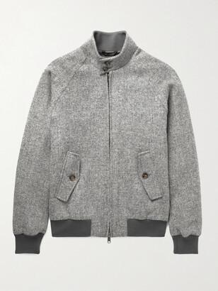 Baracuta G9 Melange Virgin Wool-Tweed Harrington Jacket - Men - Gray