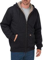 Dickies Mens Sherpa-Lined Fleece Hoodie