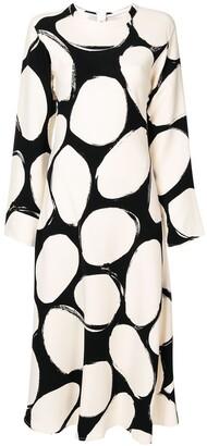 Marni Pebbles Print Flared Dress