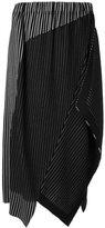 Issey Miyake pinstripe asymmetric skirt