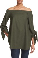 Tibi Women's Off The Shoulder Gabardine Tunic