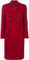 DSQUARED2 double breasted coat - women - Polyester/Spandex/Elastane/Viscose/Virgin Wool - 40