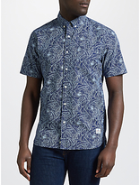 Penfield Cuyler Patterned Short Sleeve Shirt, Blue