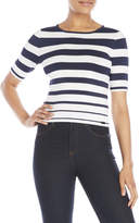 Pink Tartan Graduated Stripe Top
