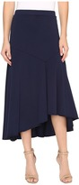 Mod-o-doc Classic Jersey Hi-Low Asymmetrical Seamed Skirt