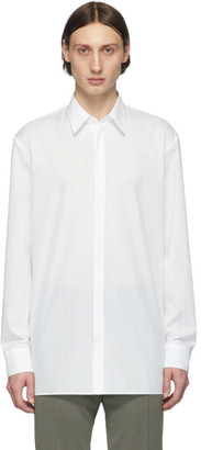 Maison Margiela White Voile Relaxed Striped Shirt