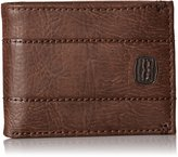 Levi's Men's Passcase Wallet with Stitch Detail and 2 Horse Logo
