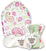 Trend Lab Paisley Bouquet Set - Hooded Towel and Wash Cloths by