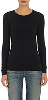 Simon Miller Women's Devola Rib-Knit T-Shirt-BLACK