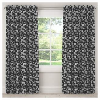 "Skyline Furniture Menagerie Blackout Curtain Panel (84""x50"") Black"