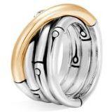 John Hardy Bamboo 18K Gold & Silver Ring