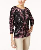 JM Collection Studded Dolman-Sleeve Top, Created for Macy's