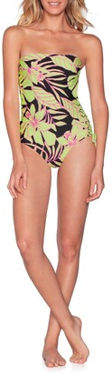 Maaji Tropic Arista Signature Cut Strapless One-Piece Swimsuit