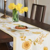 Couleur Nature 16-inches by 72-inches Treetop Table Runner, Yellow/Green