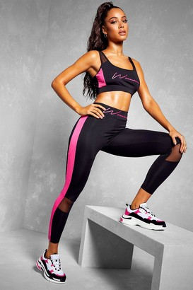 boohoo Fit Woman Contour Panel Gym Leggings