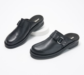 Clarks Collection Leather Slip-On Clogs - Patty Lorene